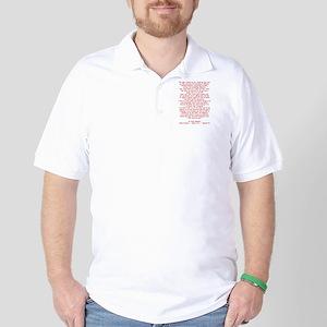 MOSTLY JUST CRUEL Golf Shirt