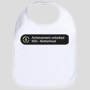 Motherhood - Achievement Unlocked Bib