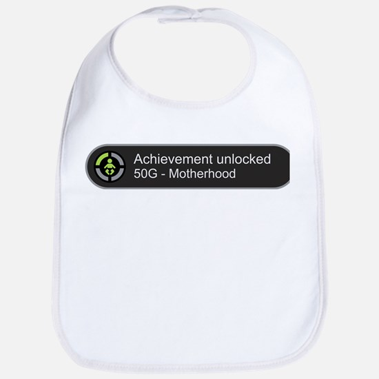 Motherhood - Achievement Unlocked Bib