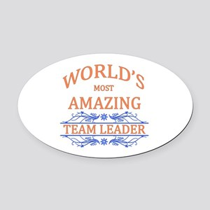 Team Leader Oval Car Magnet
