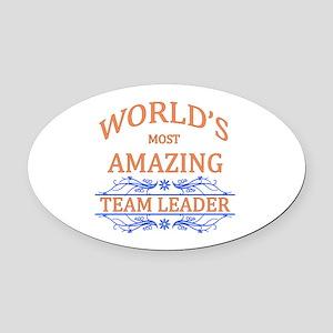 Team Leader Oval Car Magnet
