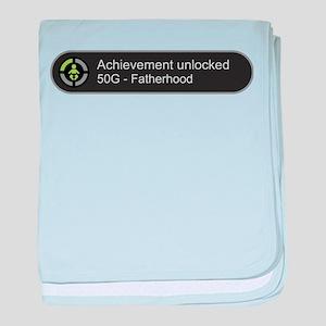 Fatherhood - Achievement Unlocked baby blanket