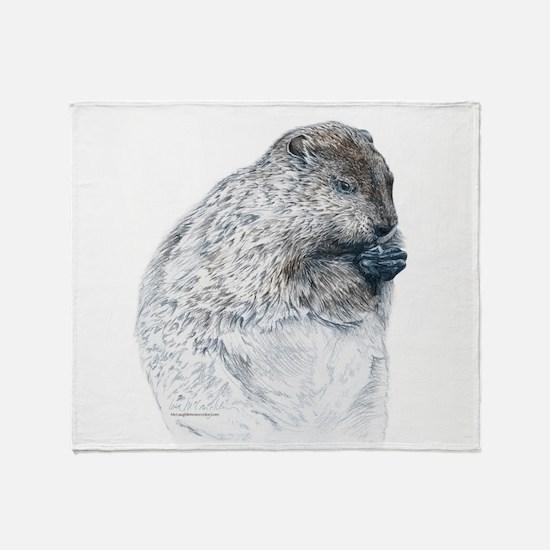 Cute Groundhog day Throw Blanket