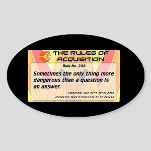 FERENGI RULES 208 Sticker (Oval)