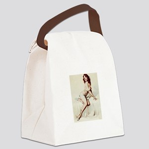 Vintage Pin-Up Canvas Lunch Bag