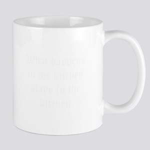 What happens in the kitchen-Old white Mugs