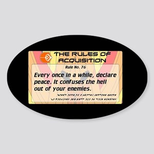 FERENGI RULES 76 Sticker (Oval)