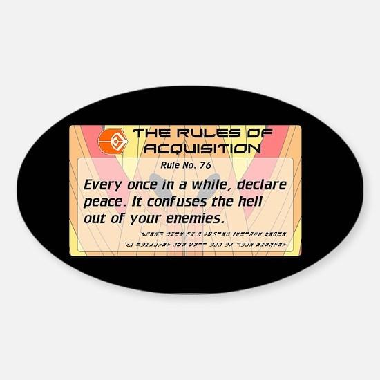 FERENGI RULES 76 Sticker (Oval)