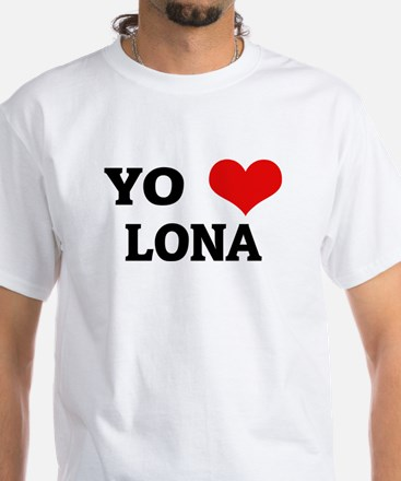 Amo (i love) Lona White T-shirt