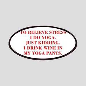 RELIEVE STRESS wine yoga pants-Bod red Patches