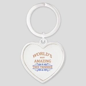 Tree Trimmer Heart Keychain
