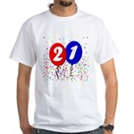 21st Birthday White T-shirt