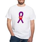 Purple Hope White T-shirt