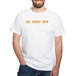Orange GO..WIN White T-shirt