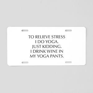 RELIEVE STRESS wine yoga pants-Opt black Aluminum
