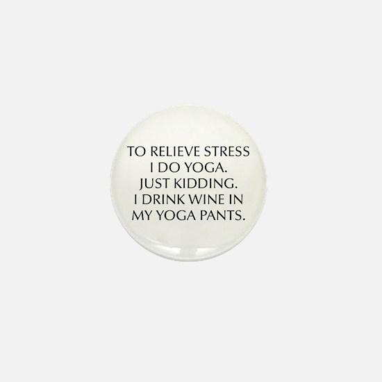 RELIEVE STRESS wine yoga pants-Opt black Mini Butt