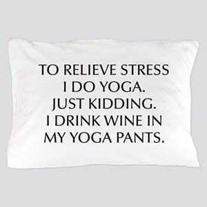RELIEVE STRESS wine yoga pants-Opt black Pillow Ca