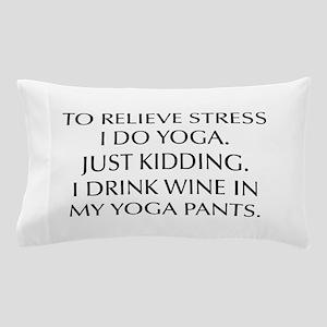 RELIEVE STRESS wine yoga pants-Opt black Pillow Ca