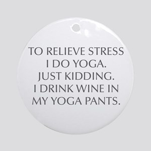 RELIEVE STRESS wine yoga pants-Opt gray Ornament (