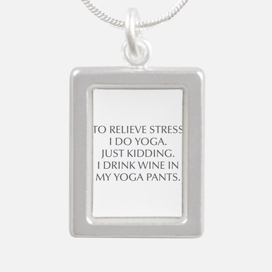 RELIEVE STRESS wine yoga pants-Opt gray Necklaces