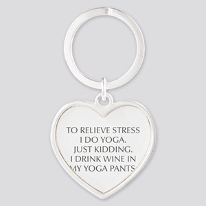 RELIEVE STRESS wine yoga pants-Opt gray Keychains