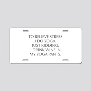 RELIEVE STRESS wine yoga pants-Opt gray Aluminum L