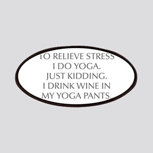RELIEVE STRESS wine yoga pants-Opt gray Patches