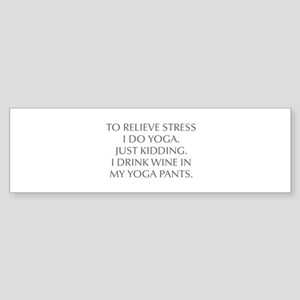 RELIEVE STRESS wine yoga pants-Opt gray Bumper Sti