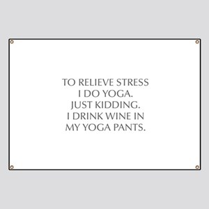 RELIEVE STRESS wine yoga pants-Opt gray Banner