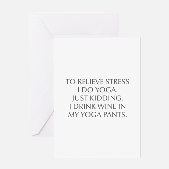 RELIEVE STRESS wine yoga pants-Opt gray Greeting C