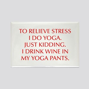 RELIEVE STRESS wine yoga pants-Opt red Magnets