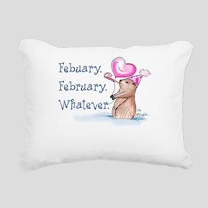 Febuary February Rectangular Canvas Pillow