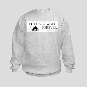 Cowgirl Love Kids Sweatshirt