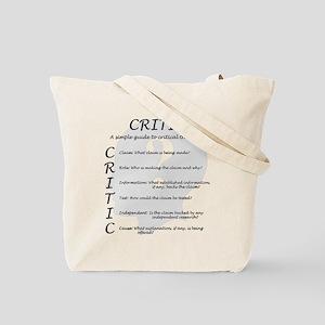 Critic Tote Bag