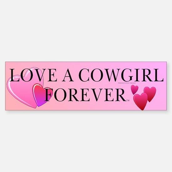 Cowgirl Love Bumper Bumper Bumper Sticker