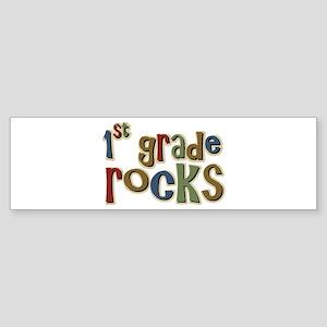 1st Grade Rocks First School Bumper Sticker