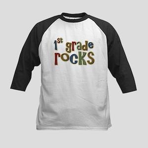 1st Grade Rocks First School Kids Baseball Jersey