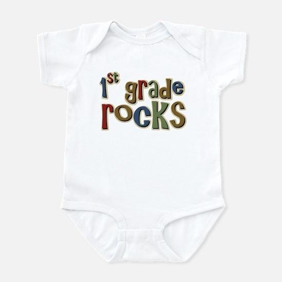 1st Grade Rocks First School Infant Bodysuit