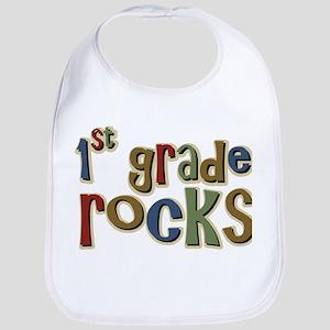 1st Grade Rocks First School Bib