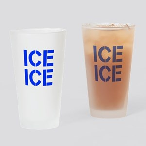 ice ice baby-Cle blue Drinking Glass