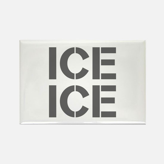 ice ice baby-Cle gray Magnets