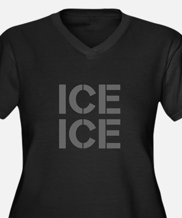 ice ice baby-Cle gray Plus Size T-Shirt