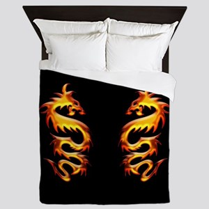 Twin Dragons Queen Duvet