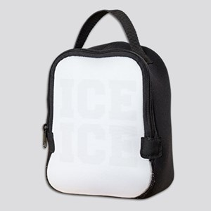 ice ice baby-Fre white Neoprene Lunch Bag
