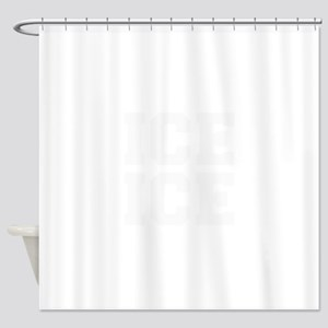 ice ice baby-Fre white Shower Curtain