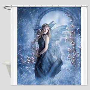 Snow Fairy fine art digital painting Shower Curtai
