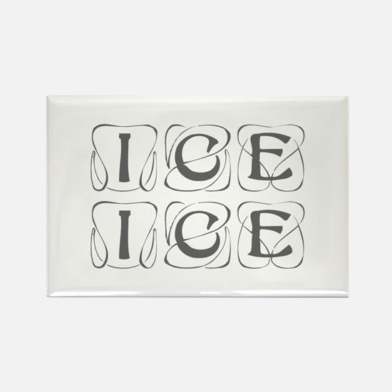 ice ice baby-Kon gray Magnets