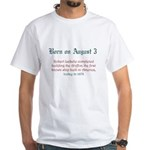 White T-shirt: Robert LaSalle completed building t