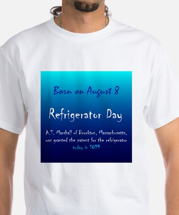 White T-shirt: Refrigerator Day A.T. Marshall of B