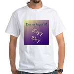 White T-shirt: Lazy Day